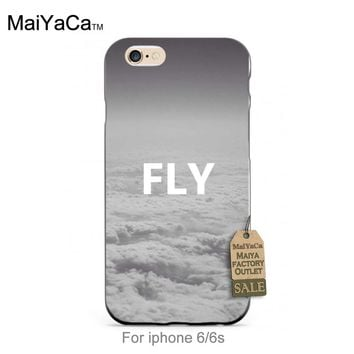 MaiYaCa black tpu silicone Flay Away Cloud Sky Space Cute Phone Accessories For iPhone se 5s 6s 7 plus case