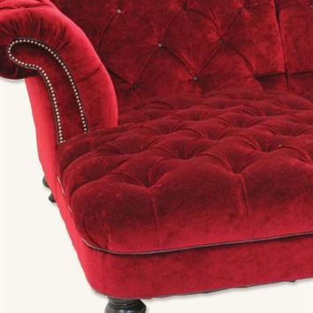 SCARLET VELVET SECTIONAL - Red Velvet Sectional Sofa