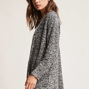 Open-Front Boucle Knit Cardigan