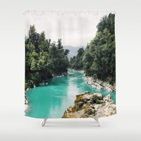 A River Runs Through It Shower Curtain by Gallery One