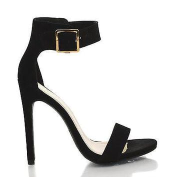 Canter Black Lami By Delicious, Lami Delicious Women's Single Sole Ankle Strap High Heels