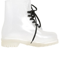 Clear Lace Up Rain Boot