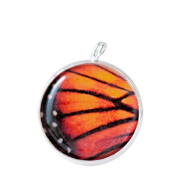 Butterfly Necklace, Wing necklace, Butterfly pendant,  Butterfly jewelry,Monarch, Insect Jewelry Butterfly Lover Gift,Orange butterfly