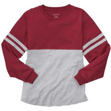 Garnet and Oxford Pom Pom Jersey