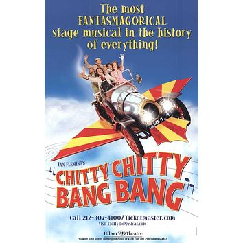 Chitty Chitty Bang Bang 11x17 Broadway Show Poster