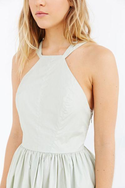 7054d596623 Kimchi Blue Vina Coated Poplin Dress from Urban Outfitters