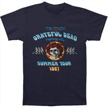 Grateful Dead Men's  Bertha Tour T-shirt Blue