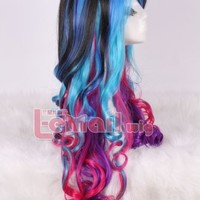Lemail Wig® Women's Bright Colorful Ombre Long Curly Anime Costumes Wigs