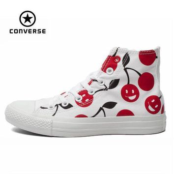 CREYUG7 Original Converse all star shoes men sneakers Hand-painted graffiti white canvas shoes