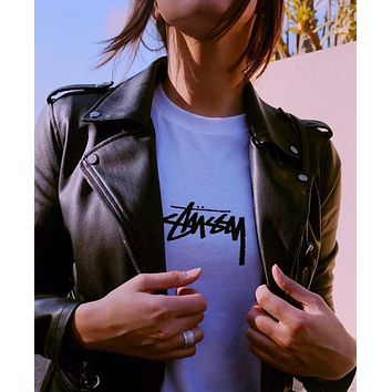 Stussy HD STOCK TEE Cotton short sleeved t-shirts