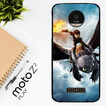 Toothless How To Train Your Dragon Y0782 Motorola Moto Z2 Play Case