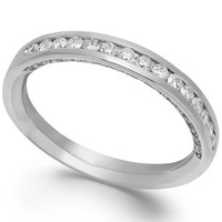 Idealmark Certified Diamond Channel Wedding Ring in Platinum (1/2 ct. t.w.)