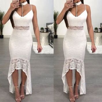 HOT NEW FASHION Women´s Lace Long Formal Wedding Evening Ball Gown Party Prom Bridesmaid Dress