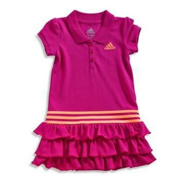 adidas? Ruffle Polo Dress in Pink