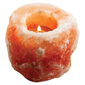 Evolution Salt Himalayan Salt Natural Tealight Holder - Tealight Holder