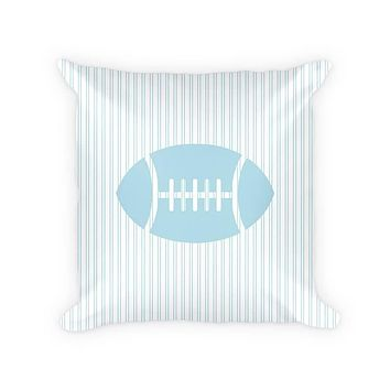 Football Children's Cotton Poly Throw Pillow