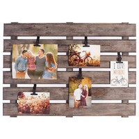 Grey Wood Large Pallet Photo and Memo Holder