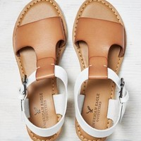 AEO T-STRAP MINI WEDGE SANDAL