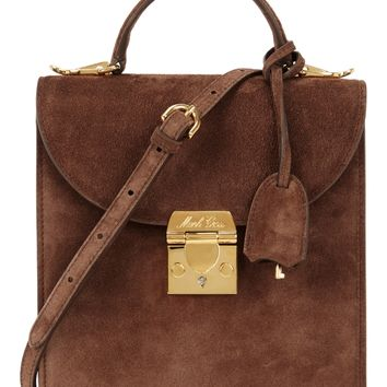 Uptown brown suede box bag