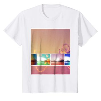 Santa Monica Pier in Los Angeles California Collage T-Shirt