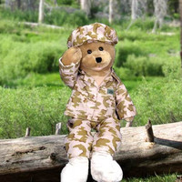 American Soldier Hero Bear