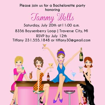 Girls Night Out Bachelorette Invitation