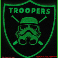 Star Wars Imperial Storm Troopers GLOW in the dark Embroidery PATCH Iron/Sew On