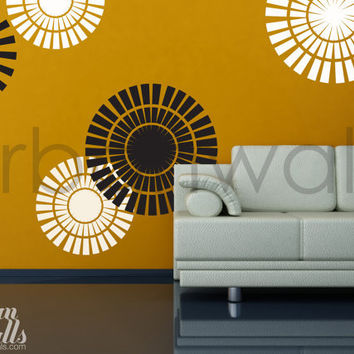 Vinyl Wall Sticker Decal Art - Circle Shapes