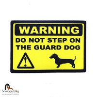 Warning Dachshund Sticker - Sausage Dog Central