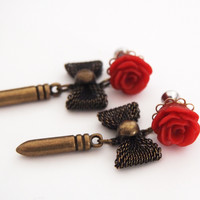 Glamsquared — Rockabilly Bullet Baby Dangle Steel Plugs