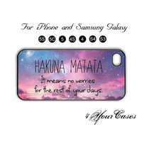 HUKANA MATATA,iPhone 5 case,iPhone 5C,iPhone 5S,Samsung Galaxy S3, Samsung Galaxy S4 Phone case,iPhone 4 Case, iPhone 4S Case