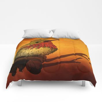 The Sunset Bird Comforters by Texnotropio