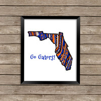 Florida Team Art, Florida Team Art Print, University of Florida Art, Florida Team Print, Zentangle