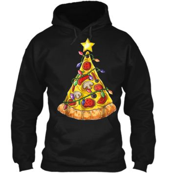 Christmas  for Men Boys Pizza Xmas Tree Crustmas Gifts Pullover Hoodie 8 oz