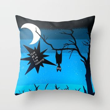 Fear Throw Pillow by Moonlit Emporium