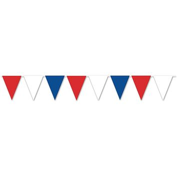 red, white & blue pennant banner - all-weather #bwr70 Case of 24