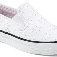 Sperry Top-Sider Mariner Double Gore Slip-On Sneaker WhiteEyeletCanvas, Size 11M  Women's Shoes