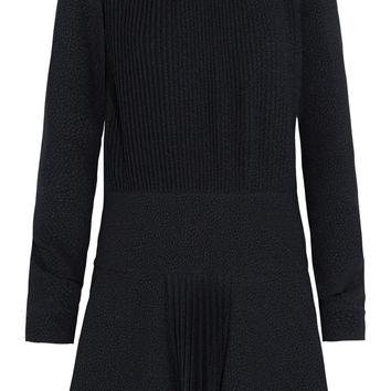 See by Chloé - Pleated cloqué mini dress