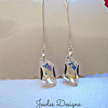 Bridal Jewelry, Swarovski Crystal, wedding Earrings, bridal party, Personalized Bridal party gifts, by JewlesDesigns on Etsy