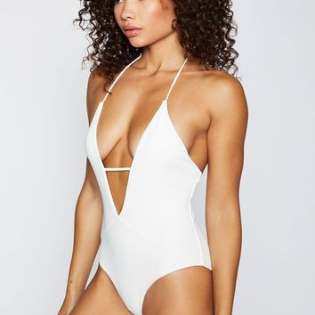 Frankie's Bikinis Lily One Piece - White