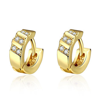 Gold Plated Tiffany Classic Inspired Mini Hoop Earrings