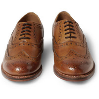 Grenson Stanley Leather Wingtip Brogues | MR PORTER