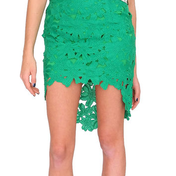 Legally Beautiful Lace Skirt Green