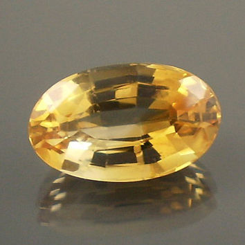 Citrine: 8.02ct Yellow Orange Oval Shape Gemstone, Natural Hand Made Faceted Gem, Loose Precious Quartz Mineral, AAA Jewelry Supply 20042