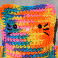 Amigurumi Kitty Crochet Cat Bright Rainbow Kawaii Kitteh