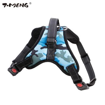 T-MENG Dog Harness Vest For Medium Large Dogs Reflective Camouflage Oxford Cloth Small Pet Dog Harness K9 Pet Products Supplier