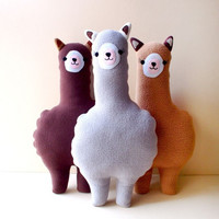 Alpaca Plush Cushion - Little Odd Forest
