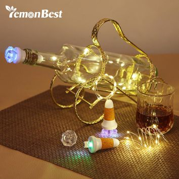 100CM USB 10-LED Bottle Light Copper Wire Fairy Lights
