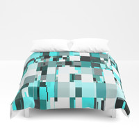 Blue Dazzle Duvet Cover by kasseggs