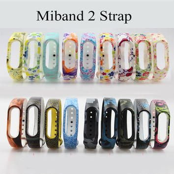 2017 pulsera special style mi band 2 strap miband bracelet  Silicone Replacement watchband for  xiaomi 2 smartband Wristbands